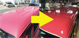 劣化した塗装・金属・樹脂の色彩復元事業